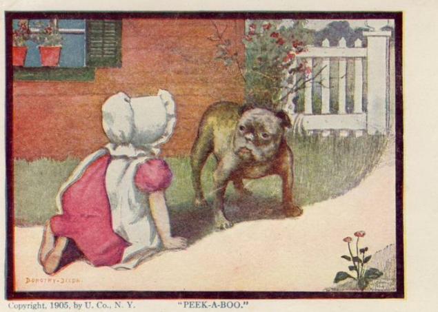 Малыши на открытках