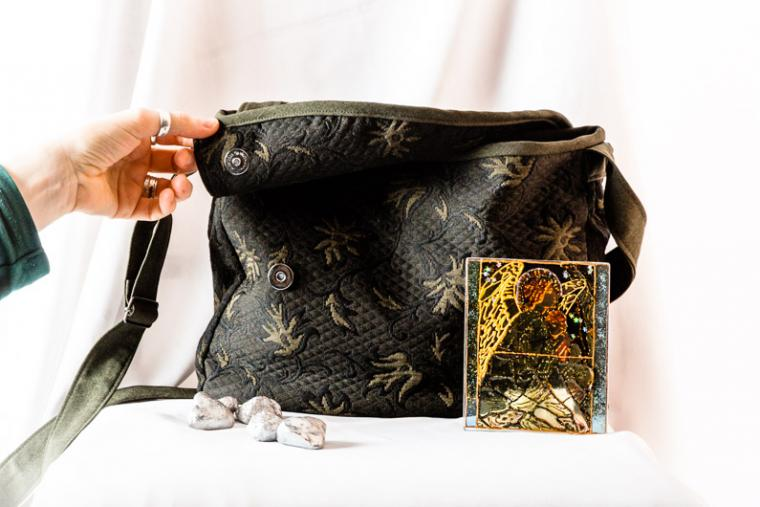 сумка из ткани, цветы, пошив на заказ