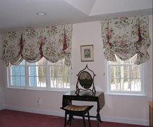 Английская штора в стиле прованс