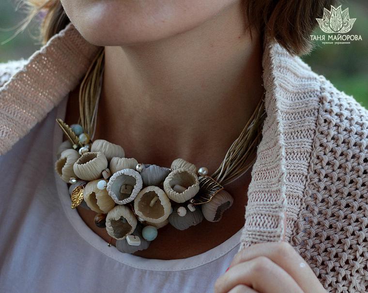 Ожерелья из полимерной глины мастер классы
