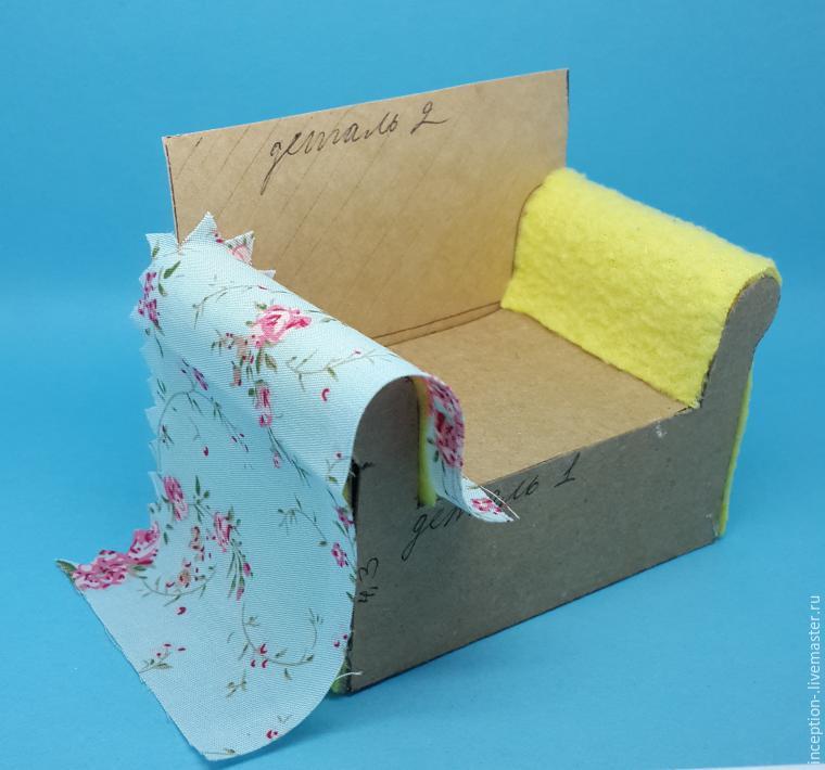 Как сделать кресло из скотча для кукол своими руками