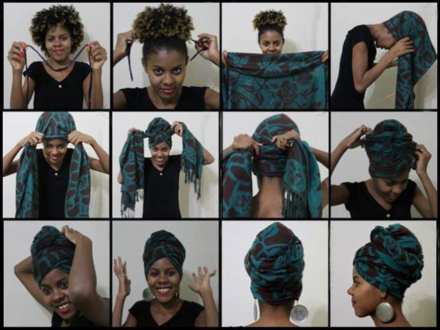 Головной убор из платка или шарфа