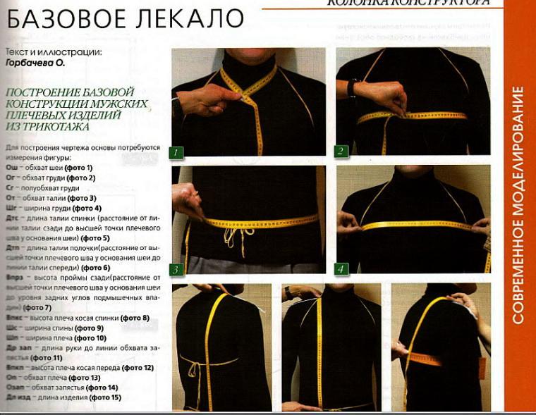 снятие мерок, индивидуальный пошив, машинное вязание