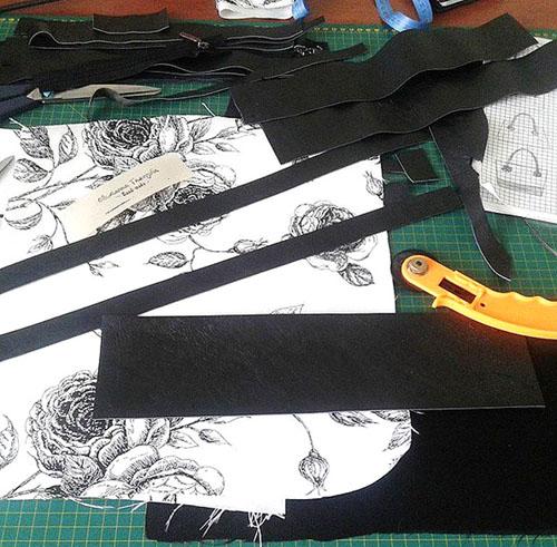 сумки комбинированные, черно-белая сумка