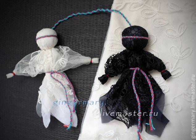 Как сделать куклу день и ночь оберег