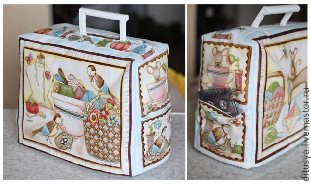 Чехол для швейной машинки своими руками мастер класс из ткани фото