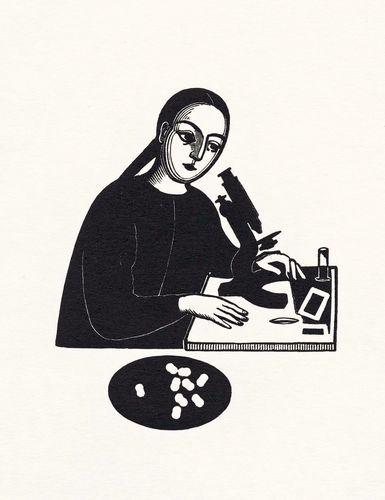Черно-белая графика знаменитых художников, фото № 47