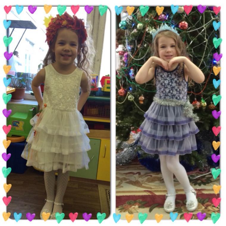 1001 идея, платье снегурочка, детское платье