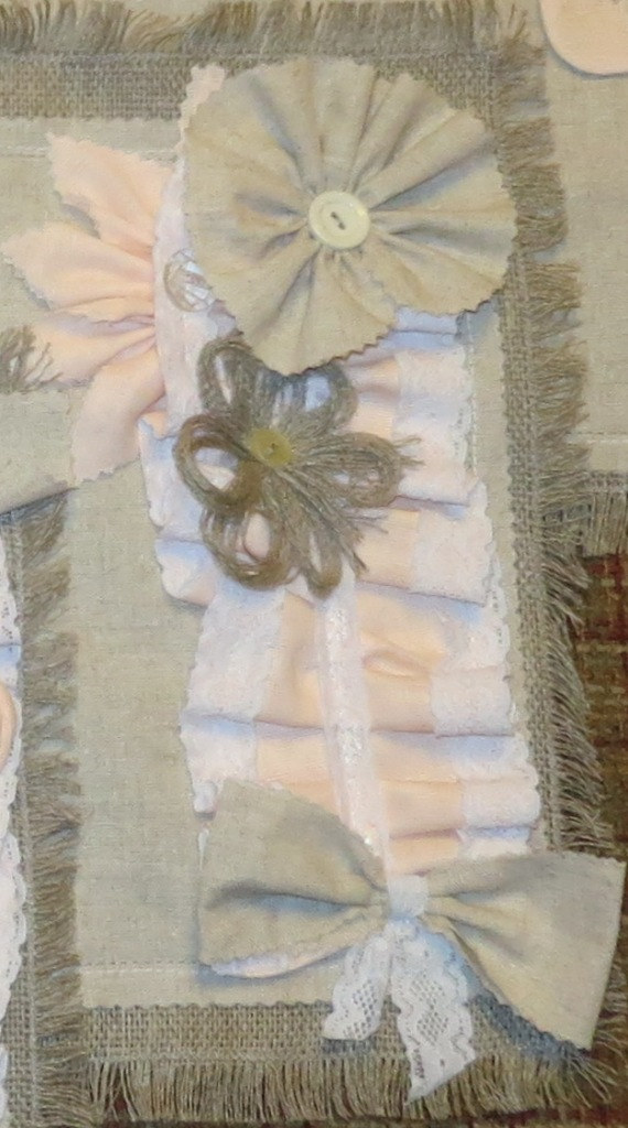 винтажный стиль, цветы из ткани