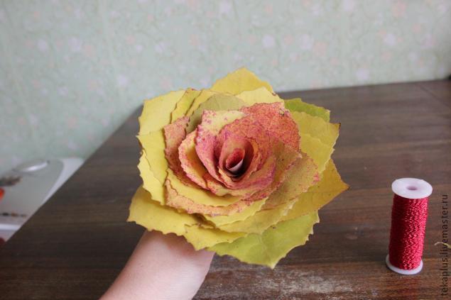 Поделки осенних роз