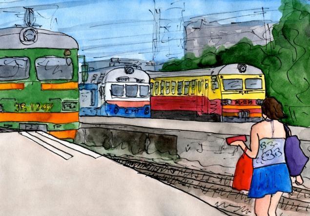 Путешествуем с Михаилом Щербаковым (Vokabre): быстрые зарисовки акварелью, фото № 30