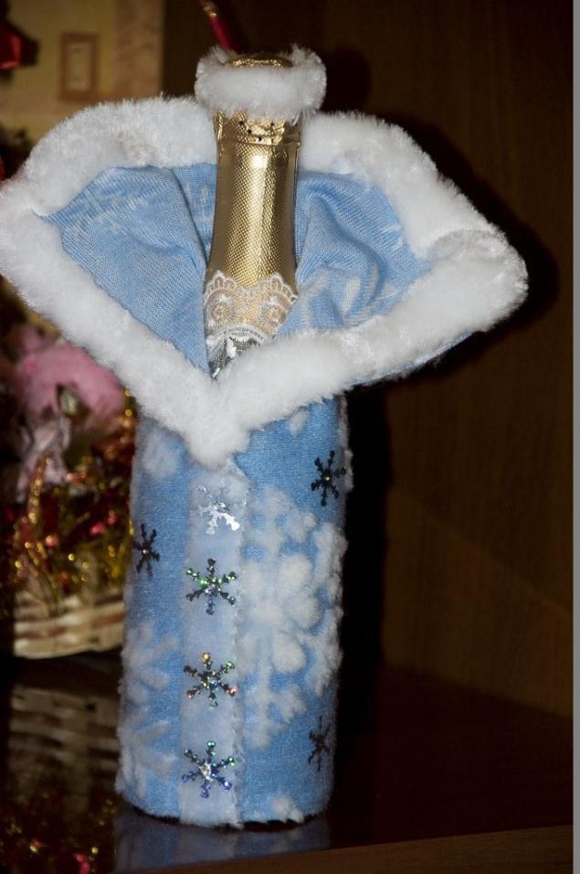 снегурочка, декоративная бутылка