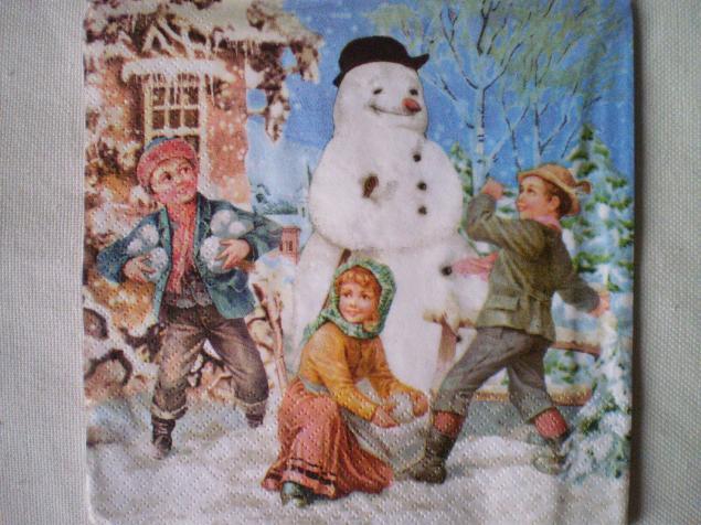 новый год, санта клаус, мишка, салфетки для декупажа, декупаж, декор, материалы для декупажа, материалы, снеговик, зима
