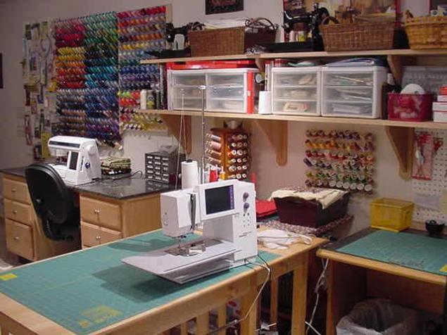 Оборудованное место для шитья