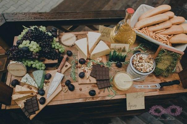 Сырные столы на свадьбу 9