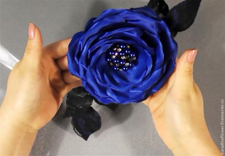 Броши цветы из ткани своими руками