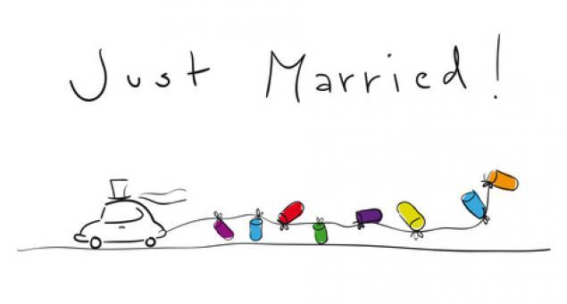 Простое приглашения на свадьбу