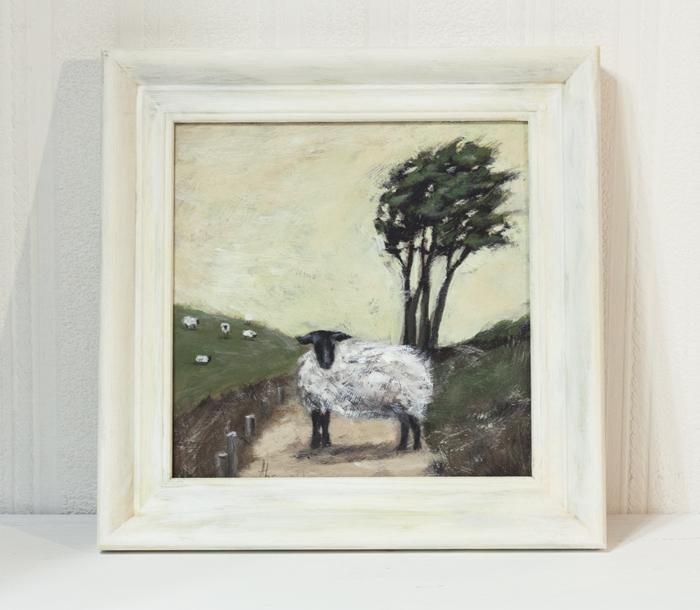 новинка, картина, живопись, овца, овечка