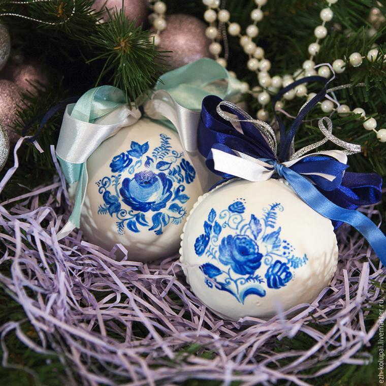 МК: Чудесные новогодние ёлочные шары  из имбирного теста - Тридевятое Царство