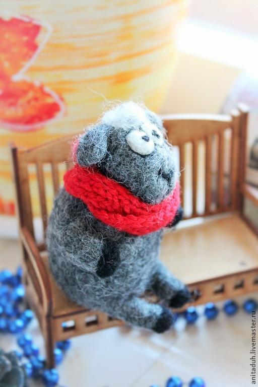 сухое валяние игрушки, игрушки из войлока, валяная игрушка, символ 2015 года, овца, овечка игрушка