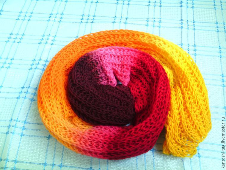 Красим старый шарф с помощью красителей для яиц, фото № 12