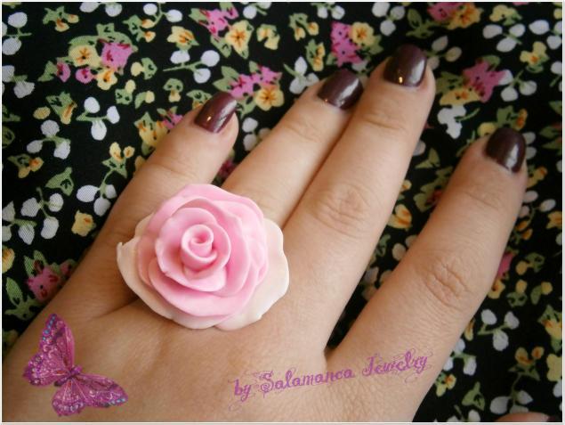 кольцо роза, украшения с цветами, украшения