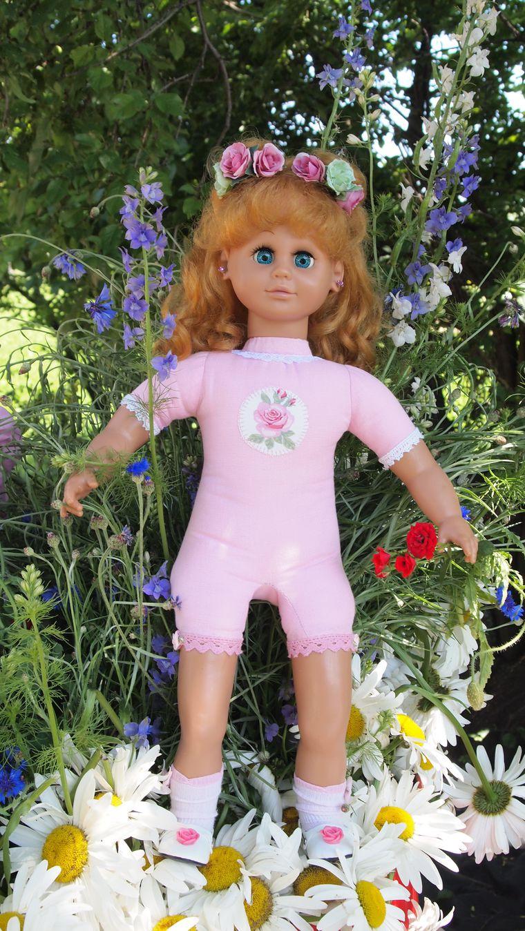 реставрация куклы, кукла с розами