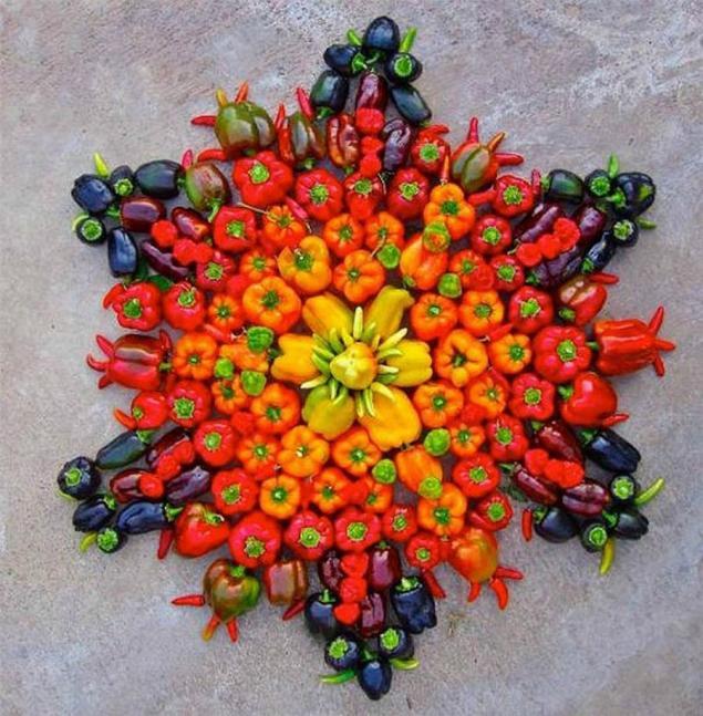 рисунок из цветов