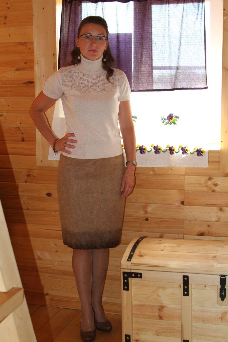 валяная юбка, осенняя коллекция