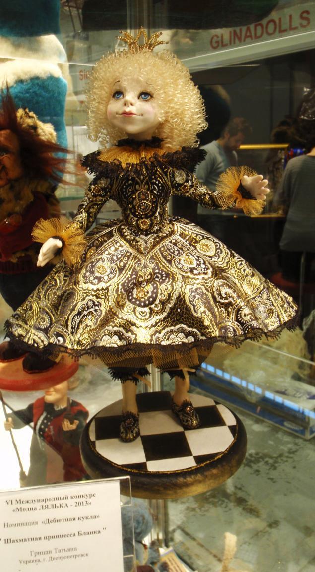 конкурс, выставка кукол, выставка 2013, кукла, шахматная королева, авторская кукла, 1 место