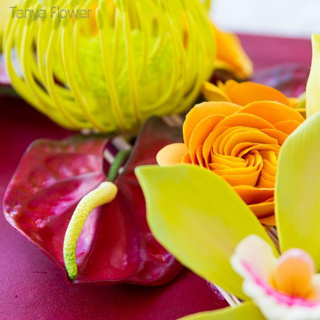 интерьерная флористика, цветы ручной работы, tanya flower