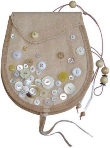 Декор для сумки из пуговиц