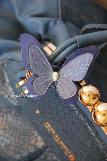 бабочка, кожаная флористика, работа с кожей, обучение цветы