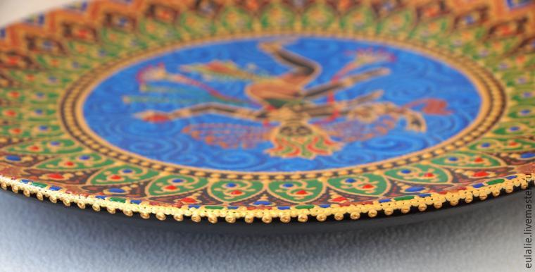 Мастер-класс по точечной росписи: тарелка-панно «танцующий Шива», фото № 24