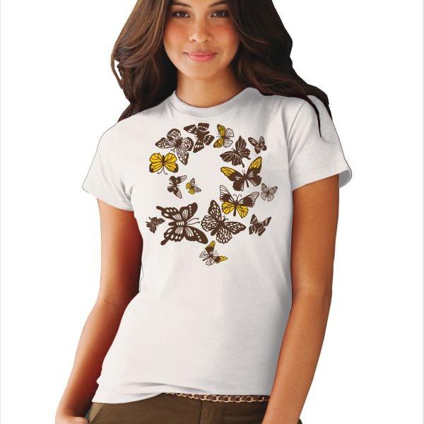 Полет бабочек на летних футболках. Онлайн мастер-класс, фото № 4