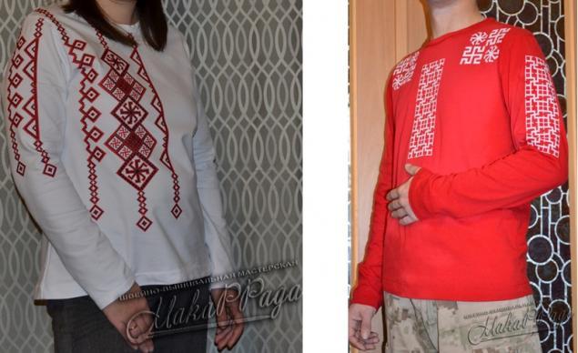 Вышивка на одежде у славян