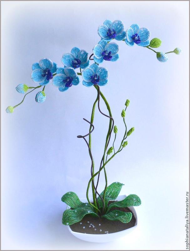 орхидея из бисера  схема