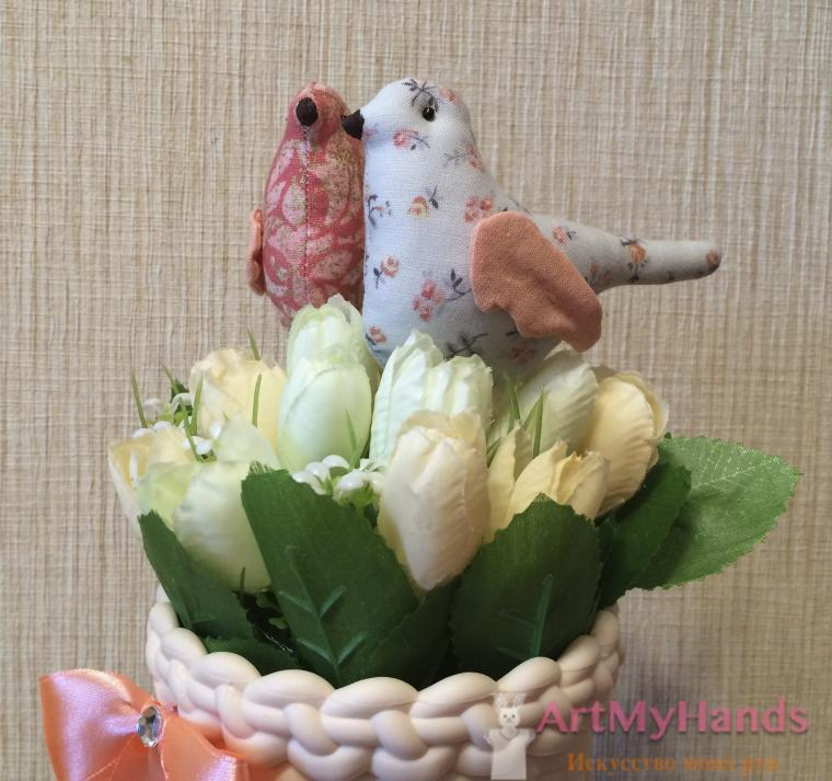интерьерная композиция, птицы, новосибирск, подарок на 8 марта
