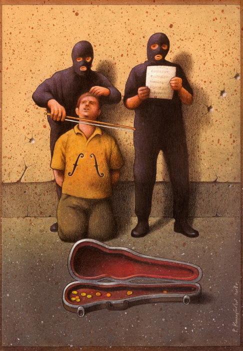Сатирические иллюстрации от Павла Кучински