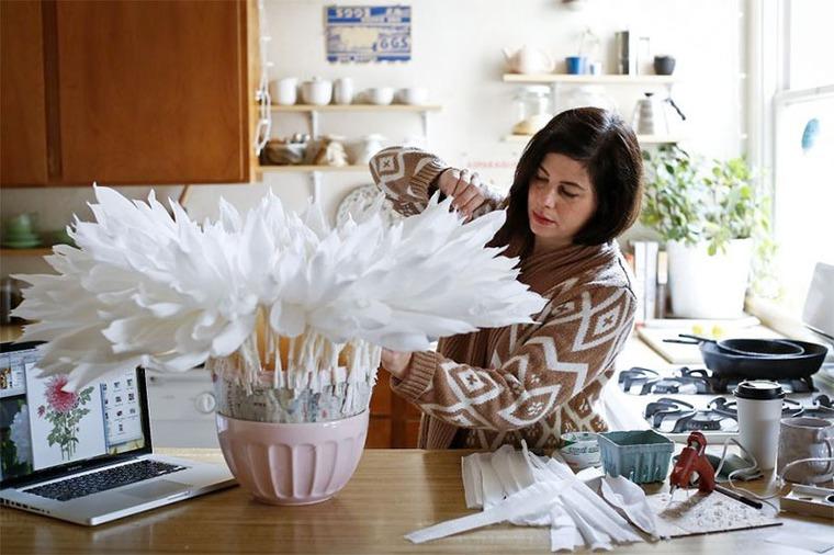 Цветы гиганты из бумаги своими руками мастер класс