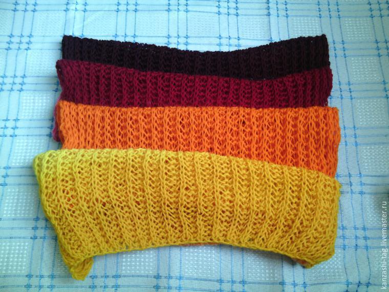 Красим старый шарф с помощью красителей для яиц, фото № 13
