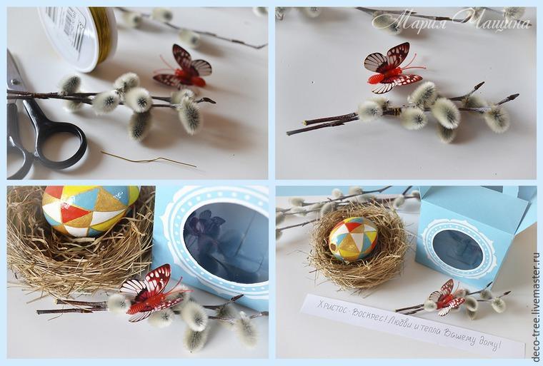 Мастер-класс: пасхальное яйцо в гнезде и подарочной коробочке, фото № 16