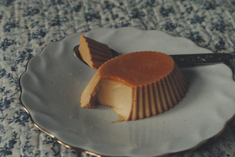 десерт, вкусняшка, карамельная панна-котта