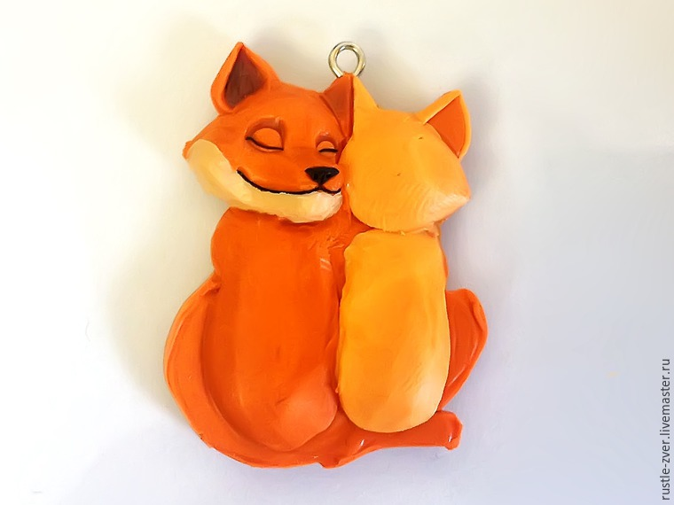 Modeling A Pendant Foxes in Love, фото № 17