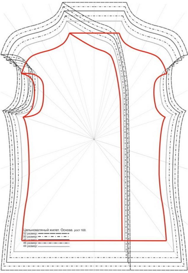 выкройка для валяние цельноваляный рукав увеличение выкройки