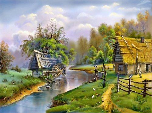 Сказочные пейзажи художника в з