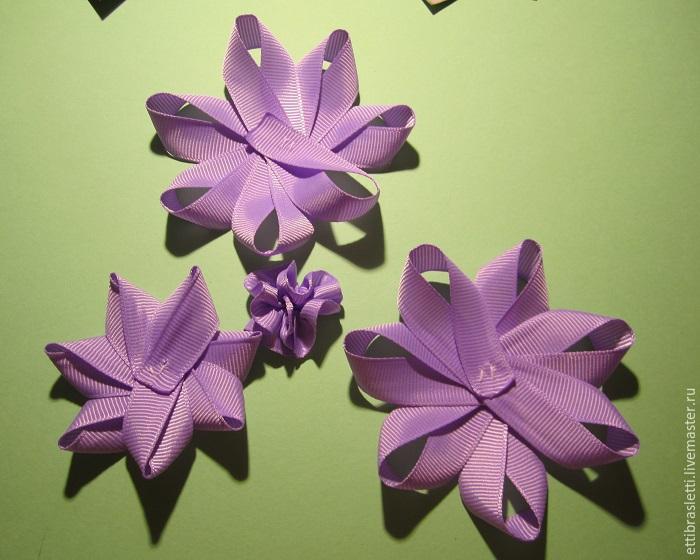 Собираем простой цветочек из ленты, фото № 17