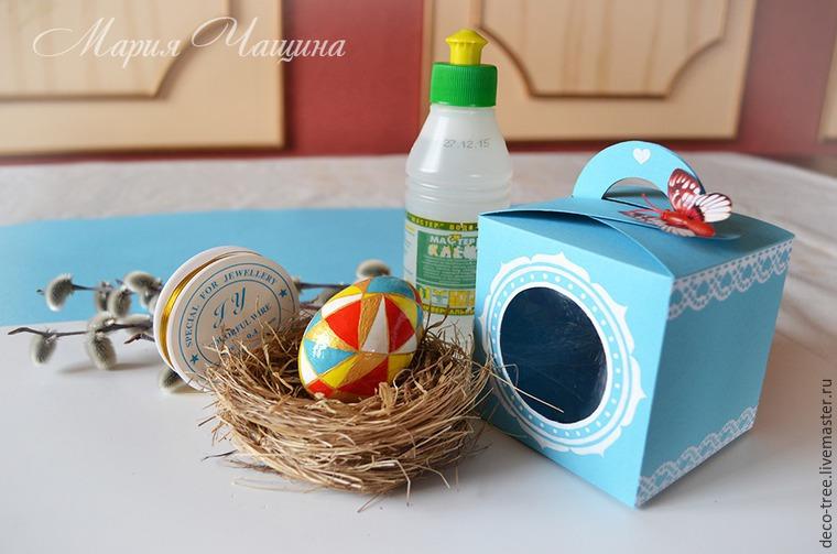 Мастер-класс: пасхальное яйцо в гнезде и подарочной коробочке, фото № 15