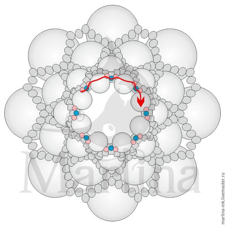 Jellyfish Pendant DIY with Pearls and Swarovski Crystals, фото № 20