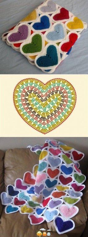 Crochet Heart - Chart  4U // hf
